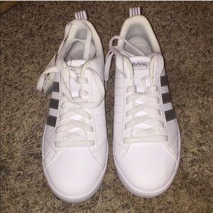 NWT White & silver adidas sneakers